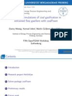 Numerical Simulation of Coal Gasification in Entrained Flow Gasifiers With CoalFoam
