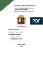 Analisis Léxico Para Imprimir