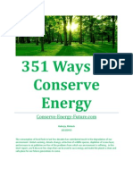 351 Ways to Conserve Energy