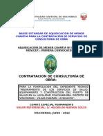 Propuesta de Bases Centro de Salud Expediente Vischongo Ayacucho