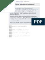 ASVAB Paragraph Comprehension Practice Test 5