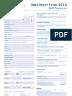 영국 Anglo ContinentalAdult Enrolment Form 2013