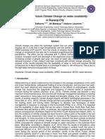 Impact of Future Climate Change on water availability in Kupang City ; dampak perubahan iklim masa depan pada ketersediaan air di Kota Kupang