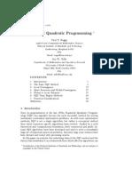 Sequential Quadratic Programming