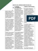 Tabla Comparativa de Jurisdiciones Bolivia