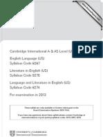 8274 - Language & Literature in English (US)