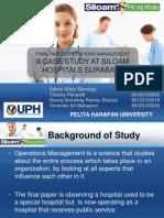 Operations Management--Final Feport