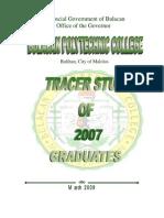 Tracer Study Graduates of 2007