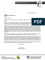 Carta de Aumento de Costo de Guardias