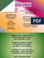 Love Lyrics SAPPHO
