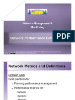 Network Performance Planning