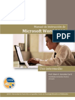 Word 2010, Uso Intermedio