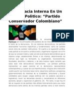 Democracia Interna En Un Partido Polìtico