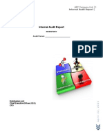 Sample Internal Audit Report Format