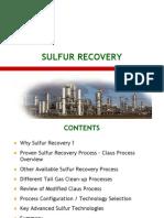 Sulphur Recovery