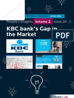 KBC Bank's Gap In The Market
