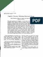 Cognitive Processes Mediating Behavioral Change (1977)