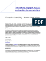 Exception Handling in Awesome c Sharp