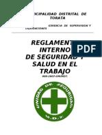 Reglamento Interno de Seguridad Mdt 2007