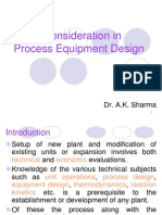 Basic Consideration in Process Equipment Design