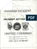 Anaheim Police Department - Incident Action Plan