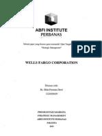 Paper - Wells Fargo Case Analysis - Strategic Management