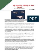 Israeli Study Exposes Fallacy of Iran Threat