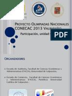 PROYECTO OLIMPIADAS VALPO 2013