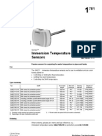 Liquid Immersions Temperature Sensors