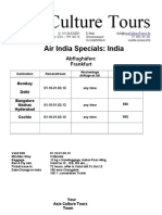 Air India Sp Offer to India 2011 May-1
