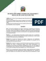 Decreto 4807, Sobre Control de Alquileres y Desahucio De 16 de Mayo Del 1959
