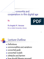 Library Consortia and Cooperation
