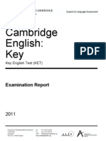 KET EXAM REPORT 2011