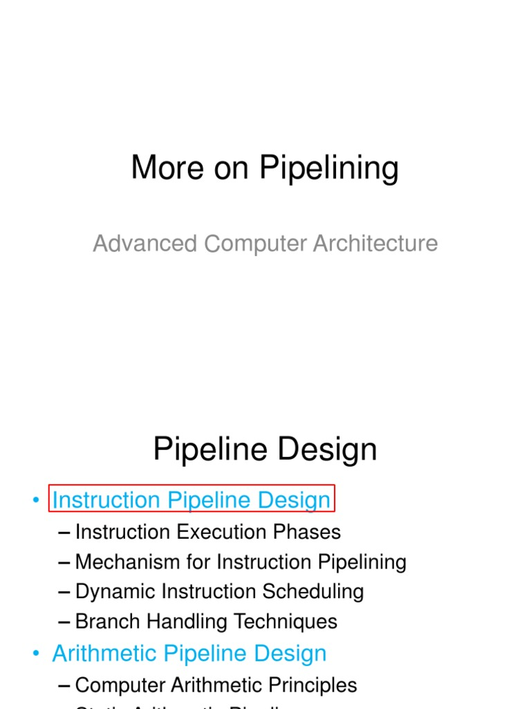 Moreonpipeliningppt Instruction Set Computer Architecture