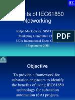 CIGRE Benefits of IEC61850