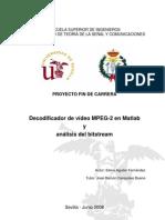 Decodificador de vídeo MPEG-2 en Matlab y análisis del bitstream