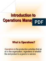 Introduction to Operations Management Operations is The4547