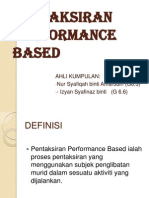 Pentaksiran Performance Based