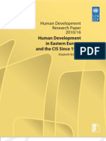 Human development in Eastern Europe and the CIS since 1990