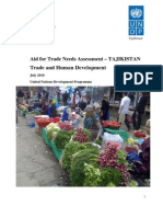 Tajikistan aid for trade needs assessment