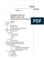 Operations Management Notes New
