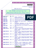 List of eStandards (Bateman Minerals)