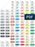 Copic Sketch & RGB Color Chart