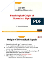 Physiological Origin of Biomedical Signal