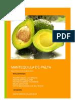 MANTEQUILLA DE PALTA  INVESTIGACIÓN DE MERCADO por hacer