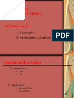 clases de documentos informáticos