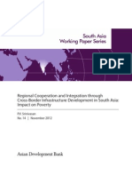 Regional Cooperation and Integration through Cross-Border Infrastructure Development in South Asia