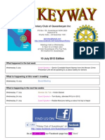The Keyway - 10 July 2013 Edition - weekly newsletter for the Rotary Club of Queanbeyan