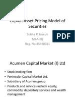 Capital Asset Pricing Model of Securities.1
