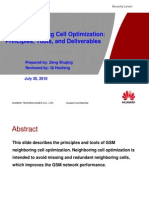 GSM Neighboring Cell Optimization Principles, Tools, And Deliverables